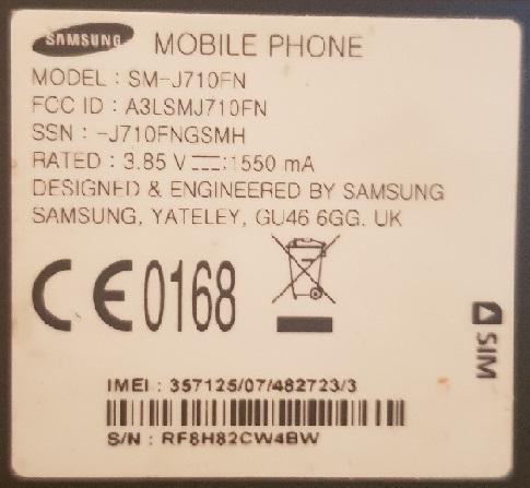 تم حله هاتف j710f مشكلة فقدان imei و baseband حماية u5 reve5