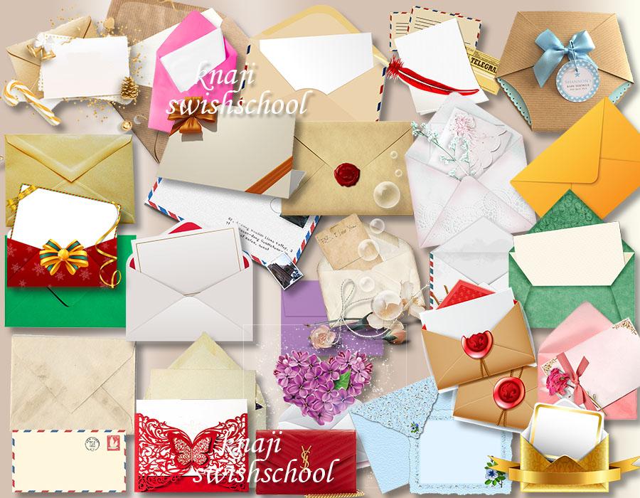 Png ظرف رسائل ظروف ملونة مع اضافات رائعه للمناسبات والافراح دون خلفية 1 مدرسة جرافيك مان
